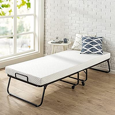 Zinus Roll Away Folding Guest Bed with 4 Inch Comfort Foam Mattress