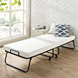 """Zinus OLB-BFGB-NT Roll Away Folding Guest Bed Frame with 4 Inch Comfort Foam Mattress, Narrow Twin / 30"""" x 75"""", White"""