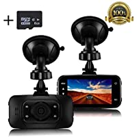 Dash Cam 1080P - Napoer Car Dash Camera (8GB SD Card Included) 2.7 LCD Full HD Video Recorder Dashboard DVR Built In G-Sensor, WDR, Loop Recording, Parking Monitor, Motion Detection, Night Vision