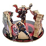 wood and nails toy kit - Marvel Avengers Wood Building Toy Hero Figure Kits Hulk Iron Man Thor Captain America Falcon Black Widow, Set of 6