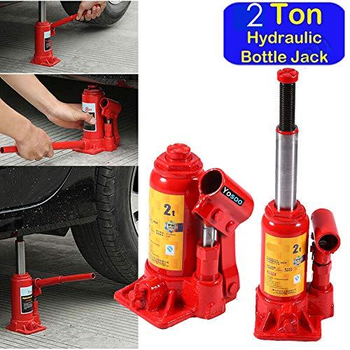 2T Cric Bouteille Hydraulique Levage Cric Hydraulique pour Voiture Van Bateau Camion Caravane