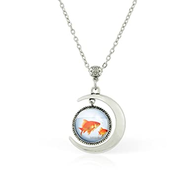 Amazon wushimaoyi moon pendant fish necklace fish jewelry fish amazon wushimaoyi moon pendant fish necklace fish jewelry fish tank pendant aquarium pendants fish bowl art necklaces jewelry mozeypictures Choice Image