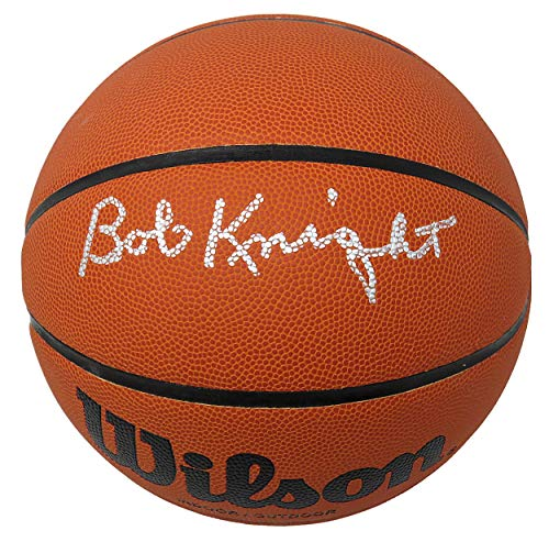 Bobby Knight Signed Wilson NCAA College Basketball - Autographed College Basketballs