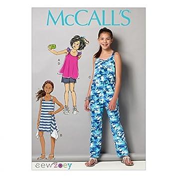 McCall \'s Mädchen Einfach Schnittmuster 7151 Top, Kleid, Overall ...