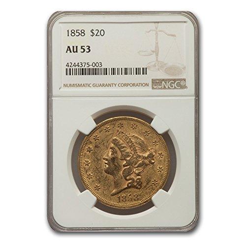 1858 $20 Liberty Gold Double Eagle AU-53 NGC G$20 AU-53 NGC