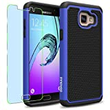 Samsung Galaxy A5 (2016) / A510F Case, INNOVAA Smart Grid Defender Armor Case (Not Compatible with Samsung Galaxy A5 (2015)) W/ Free Screen Protector & Touch Screen Stylus Pen - Black/Blue