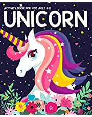 Unicorn Activity Book for Kids Ages 4-8: Fun with UNICORN Adventure. Children's Workbook Activity Game for Learning, Coloring, Mazes, Sudoku for Kids, Dot To Dot and More