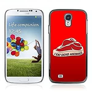 Colorful Printed Hard Protective Back Case Cover Shell Skin for Samsung Galaxy S4 IV (I9500 / I9505 / I9505G) / SGH-i337 ( Funny Meat Illustration )
