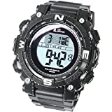 [LAD Weather] Powerful Solar Digital Watch Sports Military Lap/Split Men's Watch