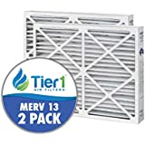 Tier1 20x25x6 MERV 13 Aprilaire 201 Comparable Air Filter DPFS20X25X6M13 - 2PK