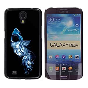TECHCASE**Cubierta de la caja de protección la piel dura para el ** Samsung Galaxy Mega 6.3 I9200 SGH-i527 ** Smoke White Shark