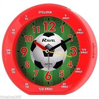 Roter Fussball Fussball Wecker Der Kinder Amazon De Gewerbe