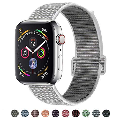 VATI Compatible for Apple Watch Band 40mm, Soft Nylon Sport Loop, with Hook and Loop Fastener, Replacement Band Compatible for iWatch Series 4/3/2/1, Seashell