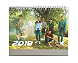 Fanstown KPOP 2018 Desk Calendar EXO BTS VIXX with photo cards (EXO C)