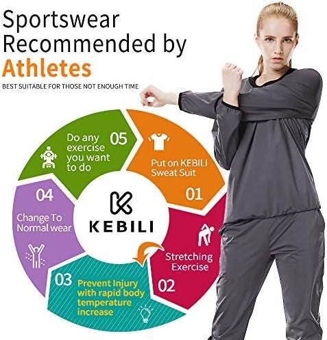 KEBILI Sauna Suit Women Weight Loss Gym Fitness Exercise Workout Sweat Training Hot Fat Men 7