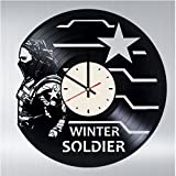 Winter Soldier Vinyl Wall Clock Bucky Barnes Unique Gifts Living Room Home Decor -  Wall Gifts