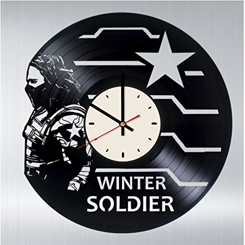 Bucky Barnes Vinyl Wall Clock - Winter Soldier Handmade Artwork - Home Bedroom Living Kids Room Nursery Wall Decor - Great Gifts Idea for Birthday, Wedding, Christmas - Customize Your Clock -  STP Cat