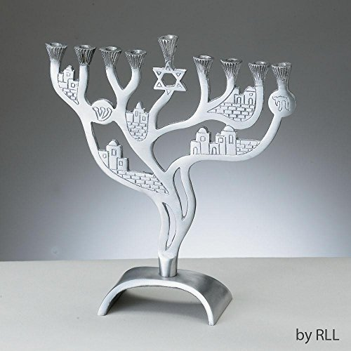 Rite Lite MG-7944 Jerusalem Winds Aluminum Menorah by Aluminum Menorah