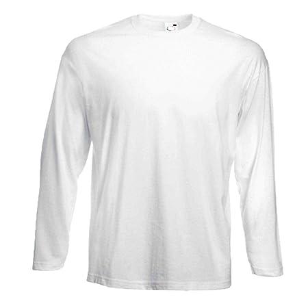 514cdff17c8f 3 Fruit of the Loom Longsleeve Langarm T-Shirts in weiss, Grössen S ...