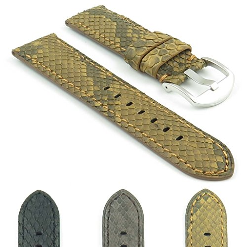 DASSARI Outlaw Python Genuine Snake Skin Style Watch Band