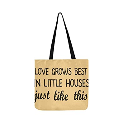 757adae4daa9 Amazon.com  Love Grows Best In Little Houses Just Like This Canvas ...