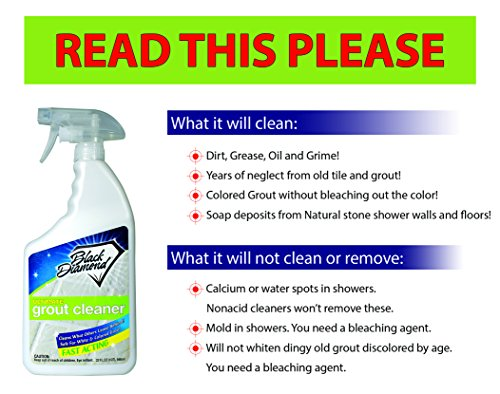 Ultimate Grout Cleaner: Best Cleaner for Tile,Ceramic,Porcelain, Marble Acid-Free Safe Deep Cleaner & Stain Remover for Even The Dirtiest Grout. (1-Quart)