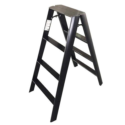 QTQZDD Escalera Conjunto multifunción Escalera Plegable de aleación de Aluminio en Ambos Lados Simple, Escalera de 4 peldaños de Doble Uso: Amazon.es: Hogar