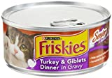Friskies Cat Food Classic Pate, Senior Turkey and Giblet Dinner in Gravy, 5.5-Ounce Cans (Pack of 24), My Pet Supplies