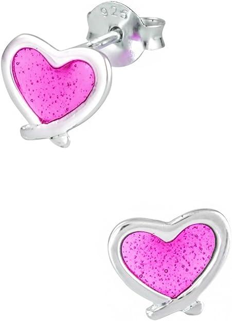 Lilac Handmade Heart Face Earrings Small
