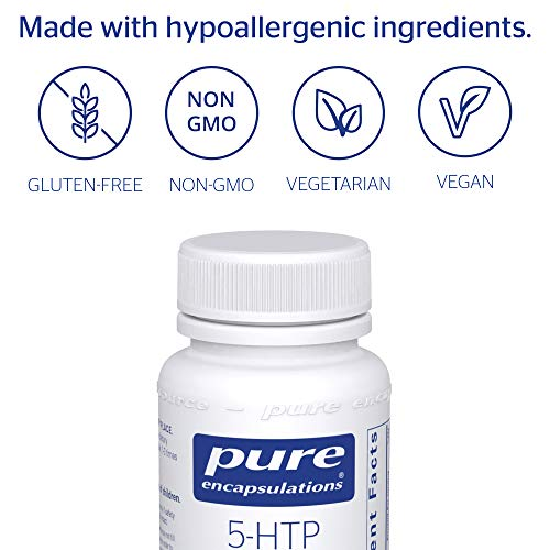Pure Encapsulations - 5-HTP (5-Hydroxytryptophan) 100 mg - Hypoallergenic Dietary Supplement to Promote Serotonin Synthesis* - 60 Capsules by Pure Encapsulations (Image #3)
