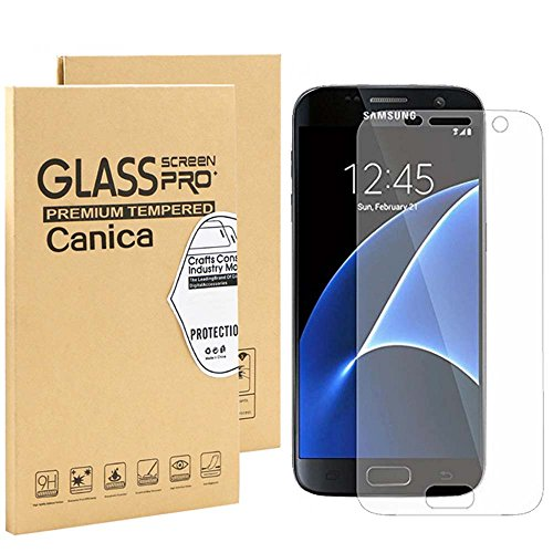 Price comparison product image Galaxy S7 Screen Protector, S7 Screen Protector, Canica Galaxy S7 Screen Protector Film- Screen Coverage for Galaxy S7