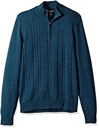 Men's 1/4 Cable Sweater