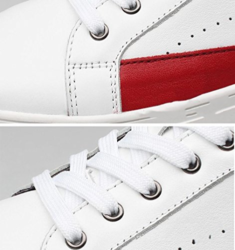 Course Chaussures 36 Occasionnels De Cuir Chaussures en Chaussures Hommes Nouvelle Top Lacets Sport De De Automne White Printemps Sport Bas Sneakers pour Mens AHrACwOnq