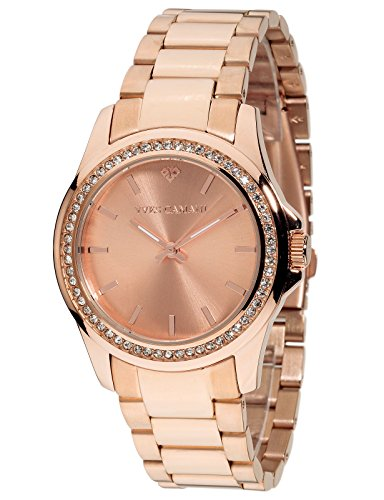 Yves Camani Montpellier Women's Wrist Watch Quartz Analog Stainless Steel Rosegold Dial