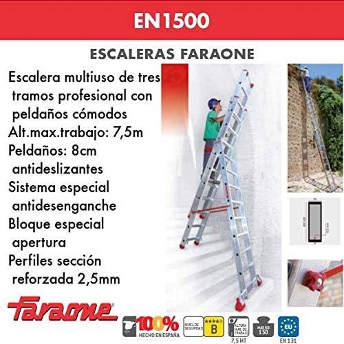 ESCALERA PROFESIONAL EN1500. FARAONE. LCS (EN 1506. 5+6+6peldaños): Amazon.es: Bricolaje y herramientas