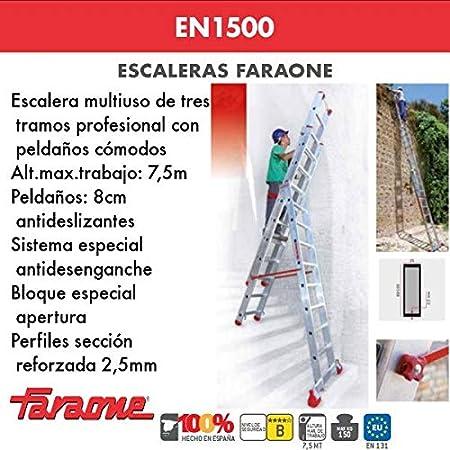 ESCALERA PROFESIONAL EN1500. FARAONE. LCS (EN 1514. 13+14+14peldaños): Amazon.es: Bricolaje y herramientas