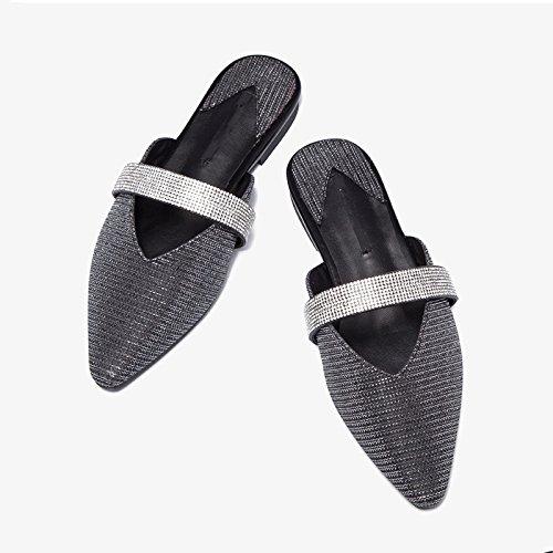 Zapatillas Baotou Rhinestone Half 7219 Jianxin Flat Mujer Summer PvqIgEw