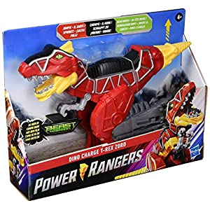 Best Epic Trends 51p1rEI7wTL._SS300_ Power Rangers Dino Charge T-Rex Zord Toy Inspired by Special Beast Morphers Episode Red Action Figure Jumps Chomps Head…