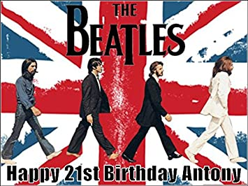 Prime A4 The Beatles Edible Icing Birthday Cake Topper Amazon Co Uk Funny Birthday Cards Online Alyptdamsfinfo