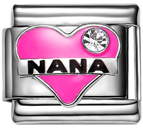 Nana Italian Charm - Stylysh Charms Nana Grandmother Enamel Italian 9mm Link FA034