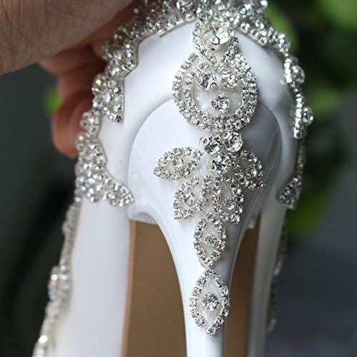 Populaires Talons Confortable Forme Et Chaussures Chic Forty Plate Les Haut Un À Mot des 14cm Seul Sfsyddy Bande Sw5npxazqq