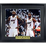 "LeBron James & Dwyane Wade ""Champions"" 11x14 Photograph (SGA Signature Series) Framed"