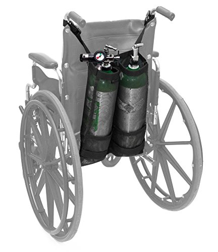 Oxygen Equipment - AdirMed Dual Oxygen Cylinder Bags for Wheelchairs (D & E Cylinders)