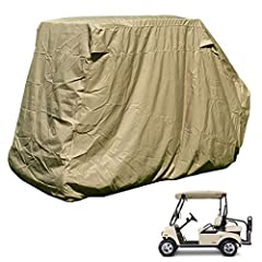 """golf cart storage cover for 4 seater with 2 seater roof up to 58"""" L. Fits EZgo and Club car 4 seater with 2 seater roof. Fits EZGO and Club car 2 passenger with bench seat on back. Dimension: 112""""Lx48""""Wx66""""H (Roof 58"""" L)"""