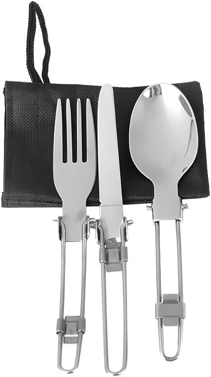 Reise Besteck Löffel Geschirr Tragbar Messer Faltbar Bedarf Gabel Essstäbchen