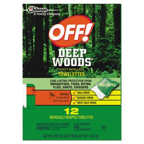 OFF! Deep Woods Towelettes - 12 Packs of 12 Towlettes. (Towelettes Wood)