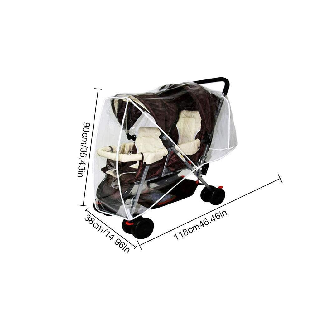 Universal Impermeable Gemelos Beb/é Cochecito Lluvia Protector para La Lluvia para Silla De Paseo Doble para Cochecito De Beb/é Cochecito Accesorios Cochecito