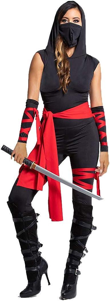 Disfraces De Ninja Sin Mangas Con Capucha De Halloween Para Mujer ...