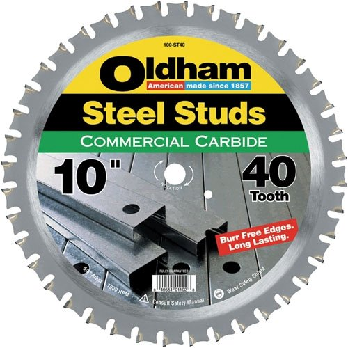 Oldham 100St40 10-Inch 40T Carbide Saw Blade for Steel Studs