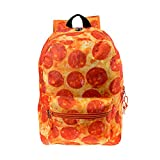 17 inch Kids Classic Cute Printed Padded School Backpack w/Headphone Slot in Pizza
